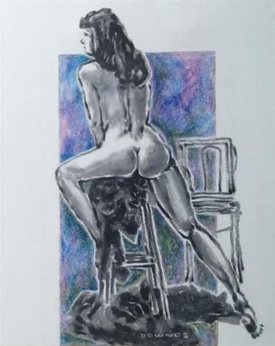 """341 LIFE DRAWING 37"" original fine art by Trevor Downes"
