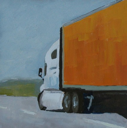 """ON THE ROAD AGAIN"" original fine art by Linda Popple"
