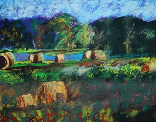 """Bountiful"" original fine art by Donna Crosby"