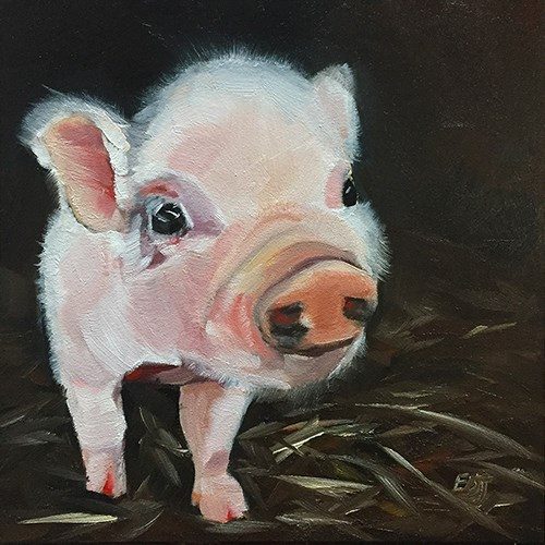 """Clarence"" original fine art by Elizabeth Dawn Johnston"