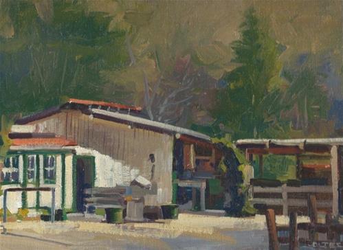 """The stables"" original fine art by J. Thomas soltesz"