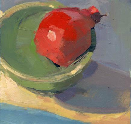 """One Last Pomegranate #953"" original fine art by Lisa Daria"