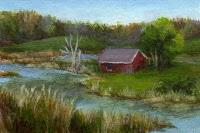 """Millbrook Farm"" original fine art by Debbie Shirley"