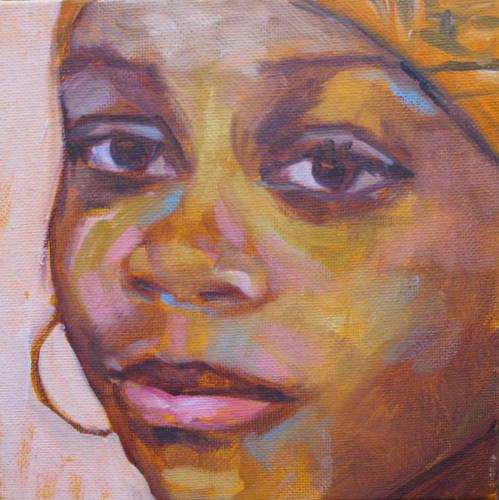 """""""TaDerra"""" original fine art by Sandy Haynes"""
