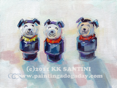"""The Three Musketeers"" original fine art by Kimberly Santini"