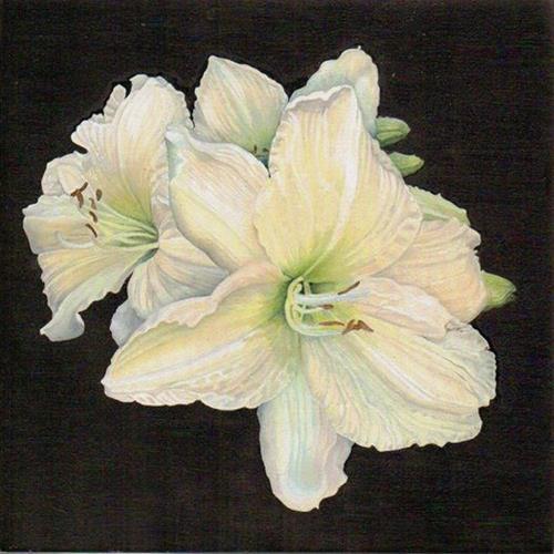 """""""Daylilies"""" original fine art by Catherine Al-Rubaie"""