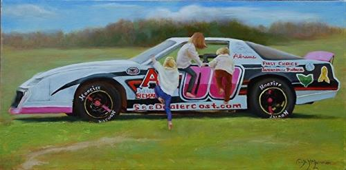 """Family Car?"" original fine art by Dorothy McLennan"