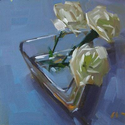 """Wistful --- SOLD"" original fine art by Carol Marine"