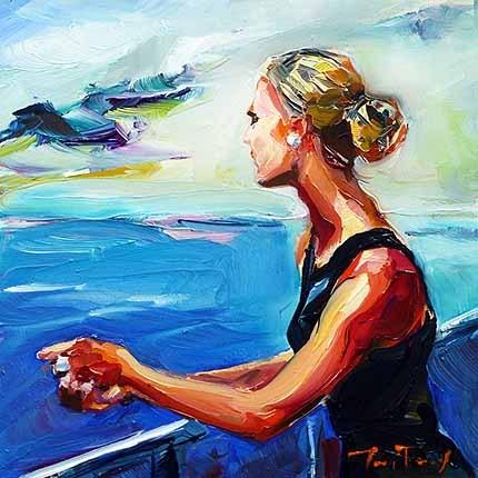 """Am See"" original fine art by Jurij Frey"