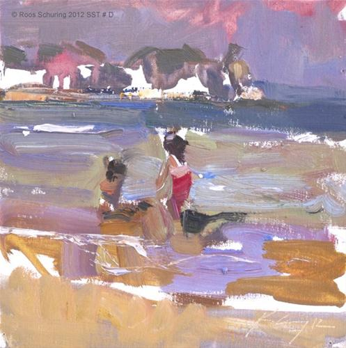 """Seascape summer Thailand # D Impression"" original fine art by Roos Schuring"