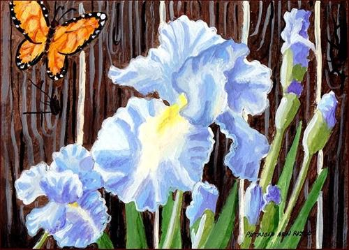"""Blue Iris"" original fine art by Patricia Ann Rizzo"