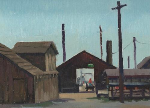 """Pier at China Camp"" original fine art by J. Thomas soltesz"
