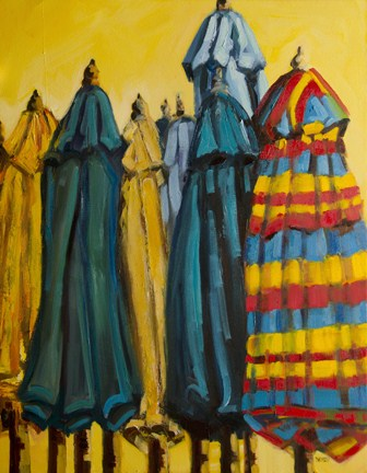 """COME ON SUMMER! UMBRELLA Diane Whitehead Daily Painting Artoutwest"" original fine art by Diane Whitehead"