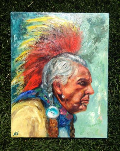 """A wise one"" original fine art by Nina K. Nuanes"