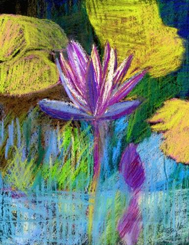 """Garden Sketch"" original fine art by Donna Crosby"