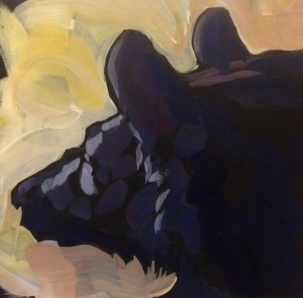 """Black Bear Silhouette"" original fine art by Kat Corrigan"