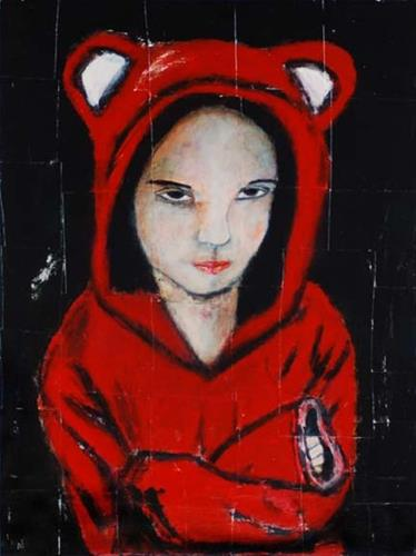 """Stubborn Little Bear No 1"" original fine art by Katie Jeanne Wood"