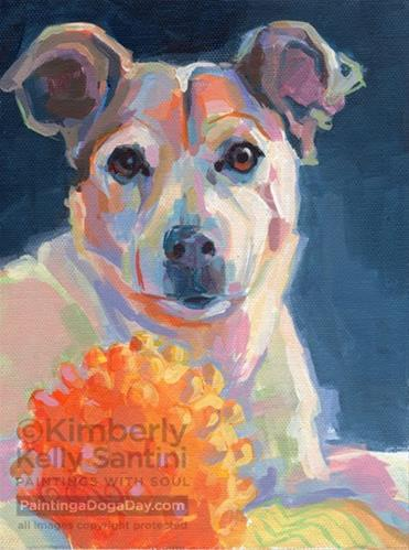 """Smitty's Ball"" original fine art by Kimberly Santini"