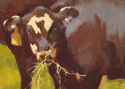 """FEEDING TIME - Tag#28"" original fine art by Helen Cooper"