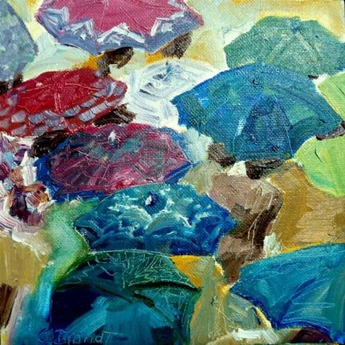 """under the umbrella"" original fine art by Claudia Brandt"