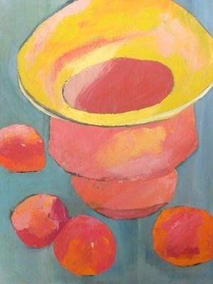 """Gathered Around Framed"" original fine art by Janet Bludau"