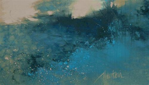"""Bramble Blue"" original fine art by Barbara Benedetti Newton"