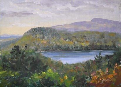 """Fall Beginnings at Sunset Rock"" original fine art by Jamie Williams Grossman"