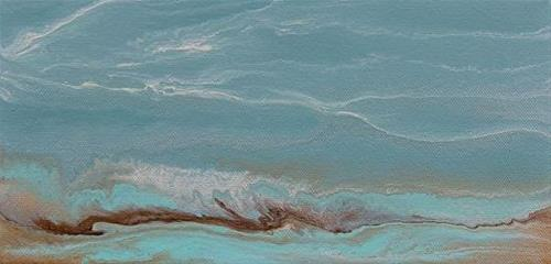 """Contemporary Abstract Seascape Painting,Coastal Art Gulf Days- Mini# 1 by International Contempora"" original fine art by Kimberly Conrad"
