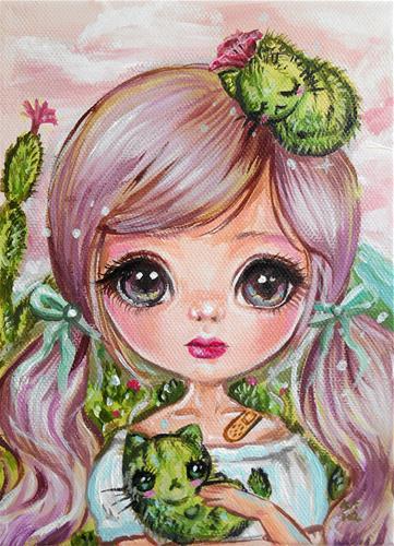 """""""Catcus"""" original fine art by Nicole Chen"""