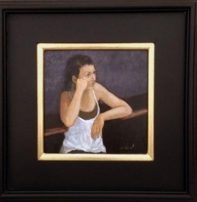 """Wait"" original fine art by David Larson Evans"