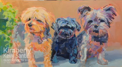 """Triple Threat, Continued Progress"" original fine art by Kimberly Santini"