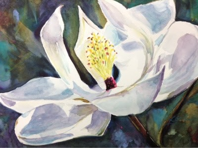 """#2/30 in 30 - Magnolia"" original fine art by Lyn Gill"