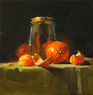 """Tangerine Ensemble --- Sold"" original fine art by Qiang Huang"