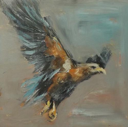 """EAGLE,A8"" original fine art by Run-      Zhang Zane"