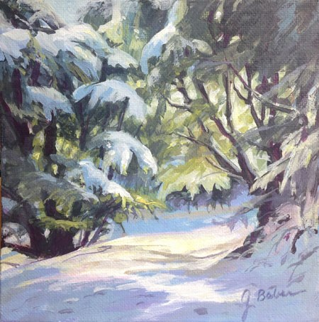 """Tehachapi Snow"" original fine art by gabriele baber"