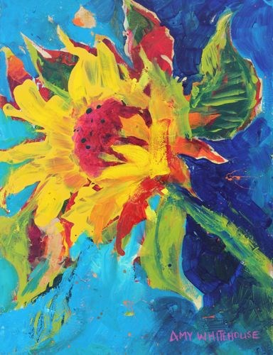 """Wild and Crazy, Contemporary Floral Paintings by Arizona Artist Amy Whitehouse"" original fine art by Amy Whitehouse"