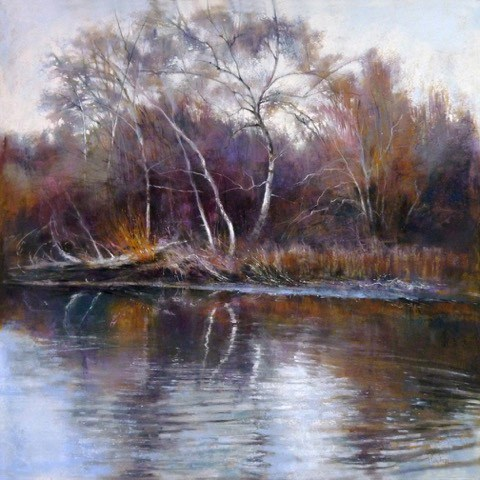 """""""Arboretum Winter Color"""" original fine art by Barbara Benedetti Newton"""