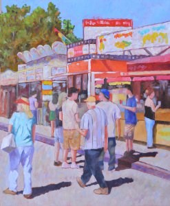 """Mid-day on the Midway"" original fine art by Robert Frankis"