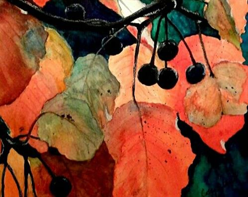 """Fall Brights"" original fine art by Cathy Dykstra"