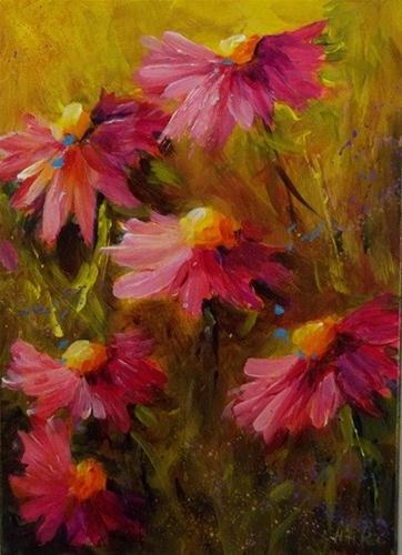 """Pink Ladies of Summer"" original fine art by Alice Harpel"