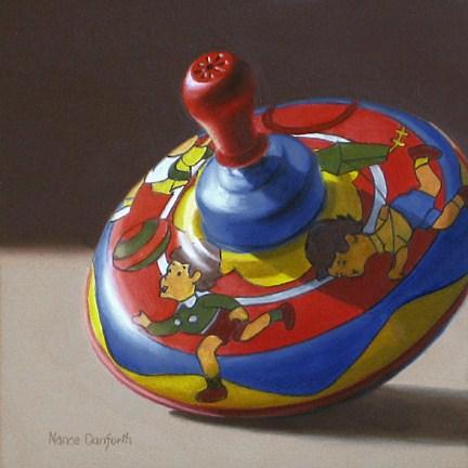 """Toy Top"" original fine art by Nance Danforth"