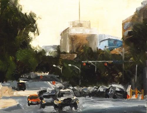 """Cityscape,A20"" original fine art by Run-      Zhang Zane"