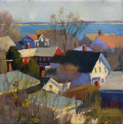 """Winter in P-town"" original fine art by Kathy Weber"