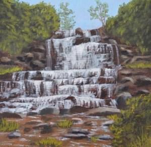"""Chittenango Falls"" original fine art by Robert Frankis"