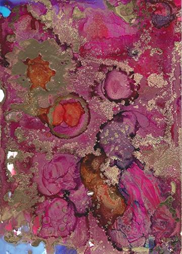 """Contemporary Abstract Alcohol Ink Painting Old Roses by Contemporary New Orleans Artist Lou Jordan"" original fine art by Lou Jordan"