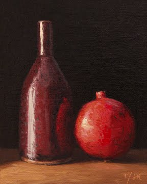 """Still Life with Pomegranate"" original fine art by Abbey Ryan"