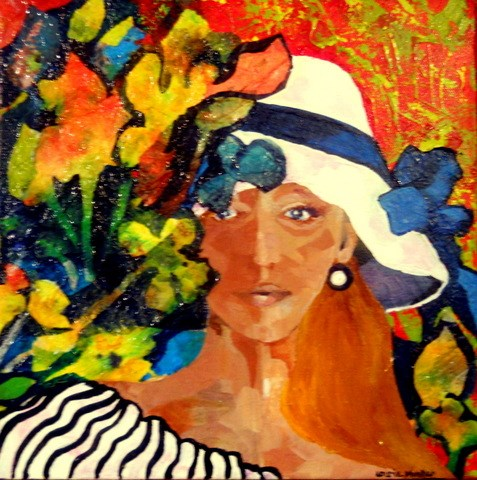 """Blooming Lady"" original fine art by Laurie Mueller"