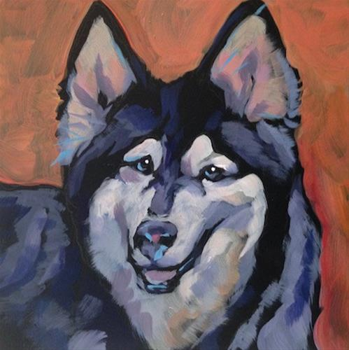 """July 29, Koda"" original fine art by Kat Corrigan"