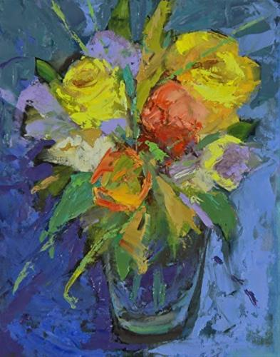 """Still Life Floral Oil Painting Spring Bouquet by Colorado Artist Susan Fowler"" original fine art by Susan Fowler"