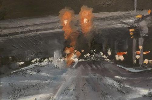 """Cityscape,A14"" original fine art by Run-      Zhang Zane"